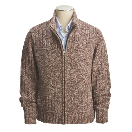 Cullen Chunky Donegal Tweed Zip Sweater (For Men)