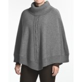August Silk Boiled Wool Cape (For Women)