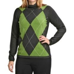 August Silk Argyle Sweater (For Women)