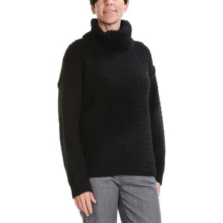 August Silk Rick-Rack Stitch Sweater (For Women)