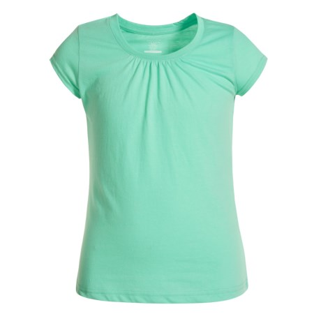 French Toast Ruched Collar T-Shirt - Short Sleeve (For Big Girls)