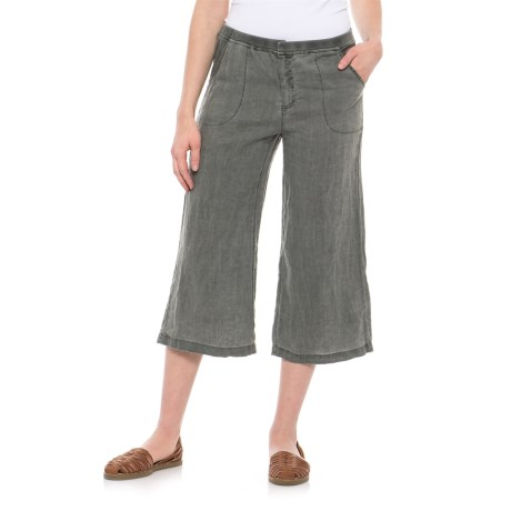 Wearables by XCVI Linen Crop Capris (For Women)