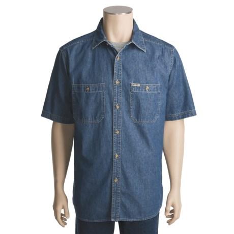 Wolverine Rivet Denim Shirt - Short Sleeve (For Men)