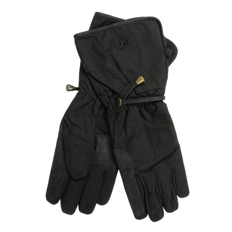 Kakadu Gauntlet Oilskin Motorcycle Gloves (For Men and Women)