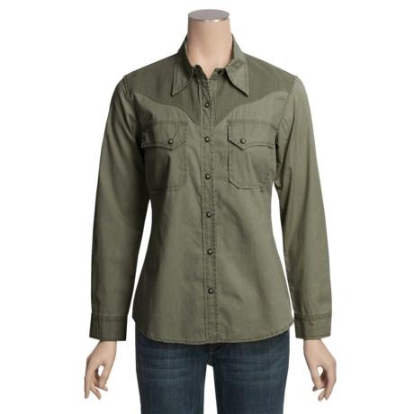 Kakadu Australia Kakadu Dallas Shirt - 5 oz. Cotton Canvas, Long Sleeve (For Women)