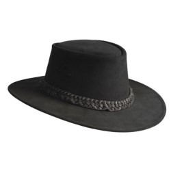 Kakadu Geelong Mossback Suede Hat - Five-Strand Braid Band (For Men and Women)