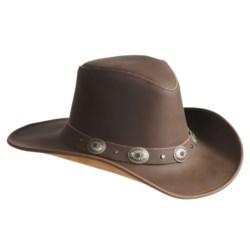 Kakadu Razorback Hat - Leather, Shapeable Brim (For Men and Women)
