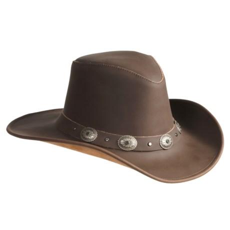 Kakadu Australia Kakadu Razorback Hat - Leather, Shapeable Brim (For Men and Women)