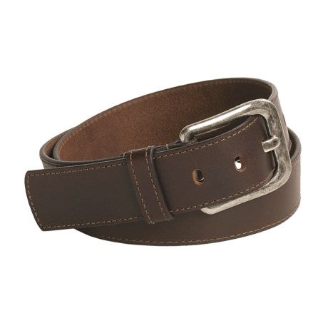 Remo Tulliani Leather Belt - Antique Nickel Buckle (For Men)