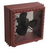 Deco Breeze Debbie Taylor-Kerman Tabletop Fan - Wood
