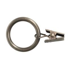 """Versailles 1.5"""" Clip Rings - Set of 7, Steel"""