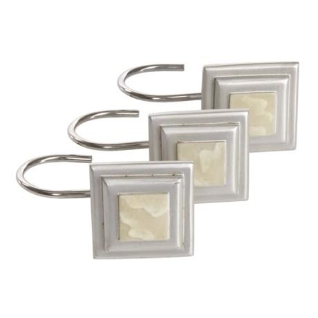 Versailles Shower Curtain Hooks - Set of 12