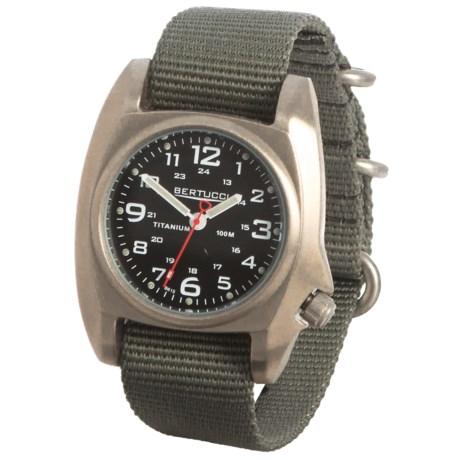 Bertucci B1-T Titanium Analog Field Watch - 41mm, Nylon Strap