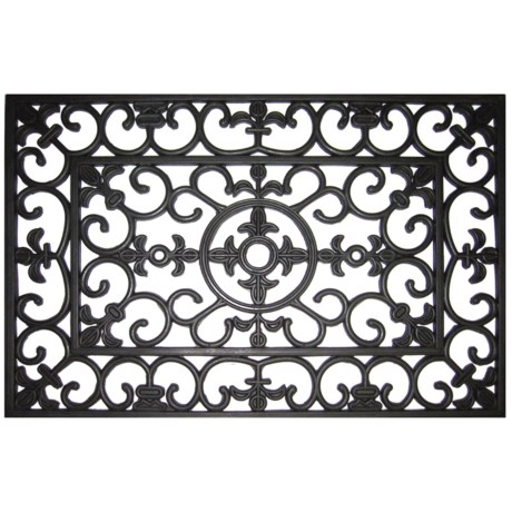 """Entryways Fleur-De-Lis Recycled Rubber Doormat - 18x30"""""""