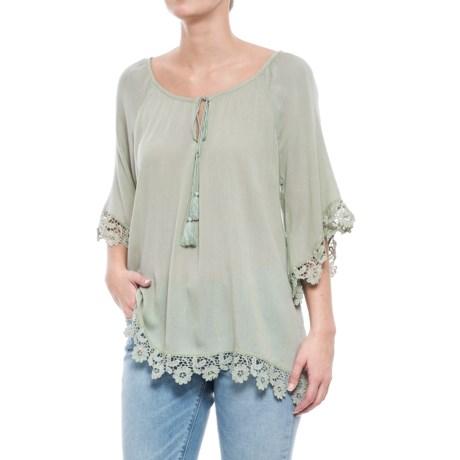Forgotten Grace Crochet Shirt - Elbow Sleeve (For Women)