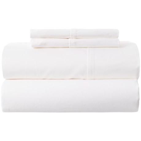 Park Manor Solid Cotton Sateen Sheet Set - Queen, 400 TC
