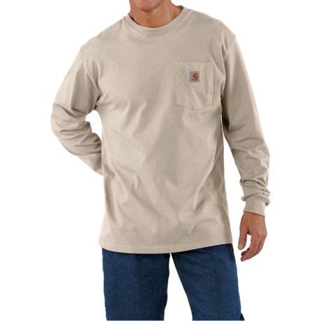 Carhartt Work Wear Shirt - Long Sleeve (For Tall Men)