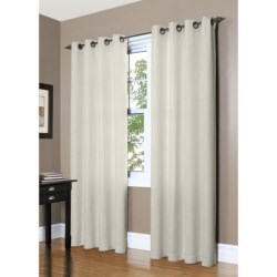 "Commonwealth Home Fashions Garbo Herringbone Curtains - 100x84"", Grommet-Top"