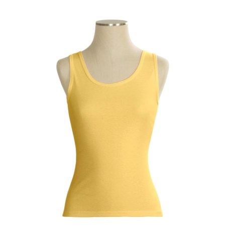 Hanes Wide Strap Tank Top - Combed Cotton Jersey (For Women)