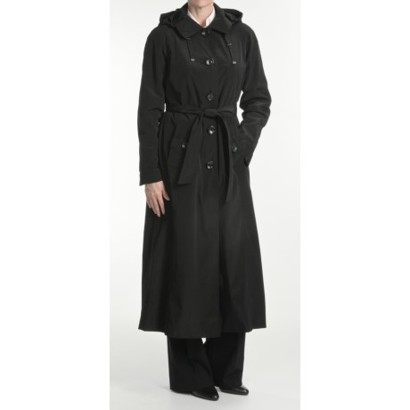 London Fog Trench Coat - Hooded, Zip-Out Liner (For Petite Women)