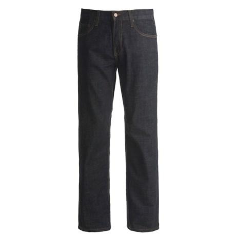 Straight Fit Denim Jeans - 5-Pocket (For Men)