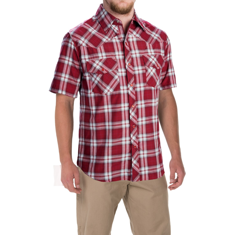 Dickies western plaid shirt for men 3890j save 62 for Dickies short sleeve plaid shirt