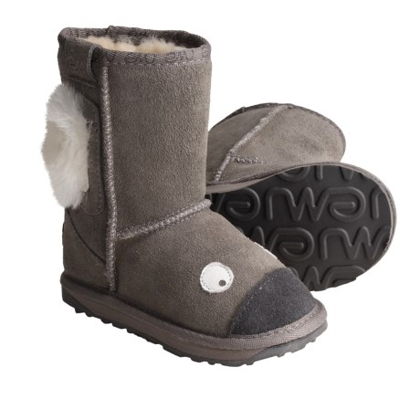 EMU Australia Emu Koala Suede Boots - Little Creatures, Sheepskin Lined (For Kids)