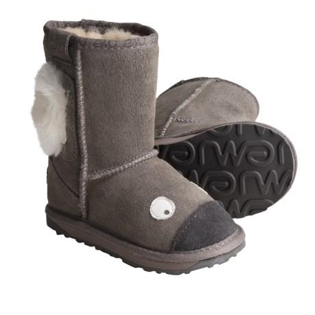 Emu Koala Suede Boots - Little Creatures, Sheepskin Lined (For Kids)