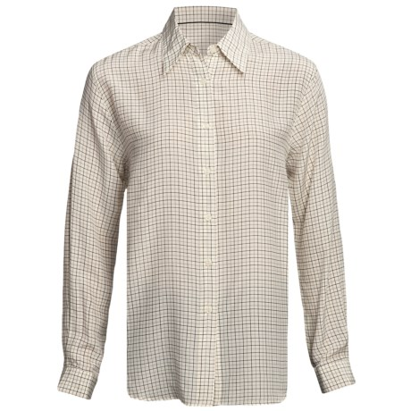 Gabriella Molinari Silk Tattersall Shirt - Long Sleeve (For Women)