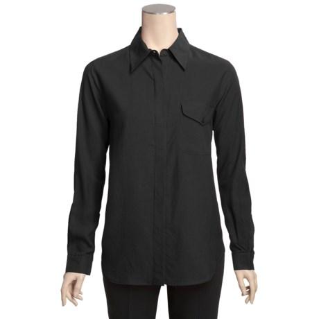 Gabriella Molinari Silk Broadcloth Shirt - Long Sleeve (For Women)