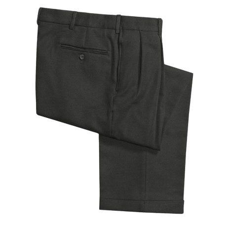 Polyester Dress Pants - Reverse Pleats (For Men)