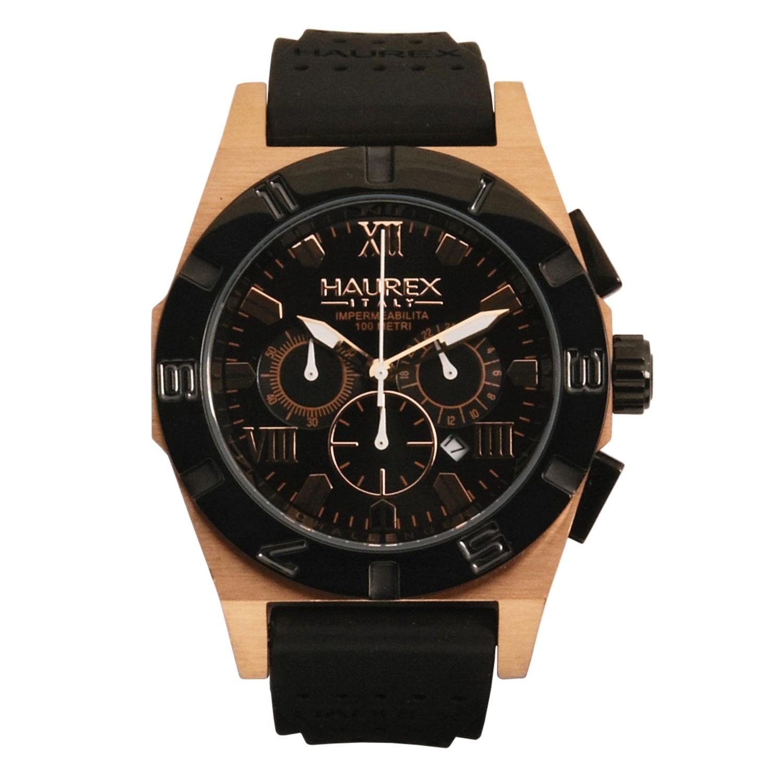 Haurex challenger 2 chronograph watch copper case rubber band 3894p save 73 for Haurex watches