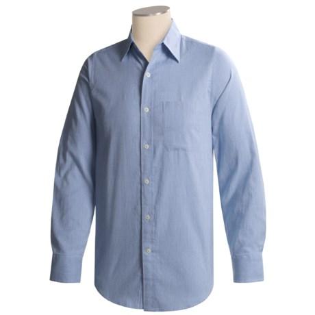 Striped Cotton Sport Shirt - Long Sleeve (For Men)