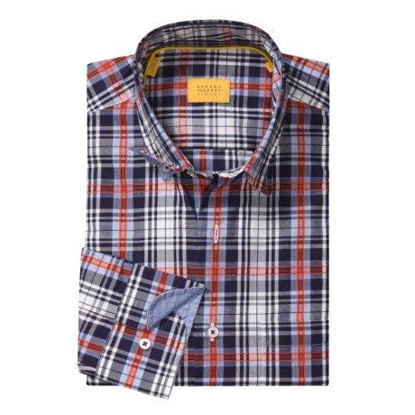 Robert Talbott Windowpane Sport Shirt - Long Sleeve (For Men)