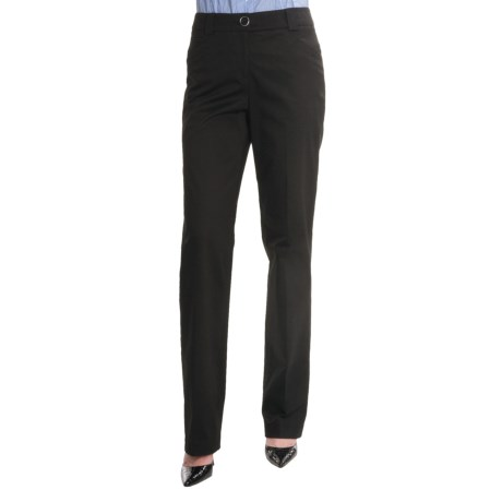 Renuar Paris Fit Straight Leg Pants - Stretch Cotton (For Women)