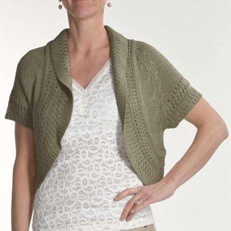 Renuar Tape Yarn Sweater - Short Sleeve (For Women)