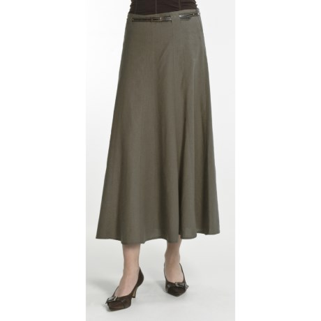 Renuar Washed Linen-Rich Skirt (For Women)