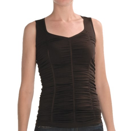 Renuar Shirred Knit Shirt - Sleeveless (For Women)