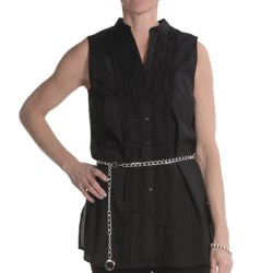 Renuar Cotton Voile Tunic Shirt - Sleeveless (For Women)