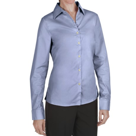Outer Banks Ultimate Wrinkle-Resistant Dress Shirt - Stretch Cotton Poplin, Long Sleeve (For Women)