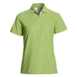 Outer Banks Diamond Knit Polo Shirt - Egyptian Cotton, Short Sleeve (For Women)