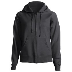Hanes Cotton Fleece Hoodie Sweatshirt - Zip, Raglan Sleeve - 7.5 oz (For Women)