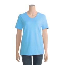 Hanes ComfortSoft T-Shirt - V-Neck, Short Sleeve (For Women)