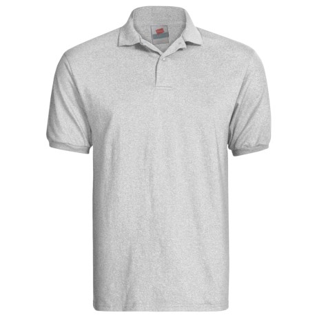 Hanes Blended Jersey Polo Shirt - Short Sleeve (For Men and Women)