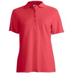 Stedman by Hanes Ring-Spun Cotton Pique Polo Shirt - Short Sleeve (For Women)
