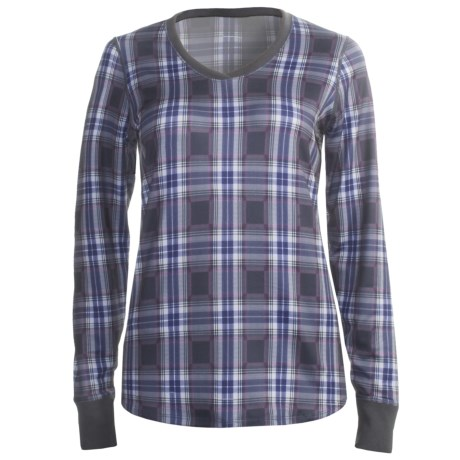 Snow Angel Posh Plaid Base Layer Top - V-Neck, Long Sleeve (For Women)