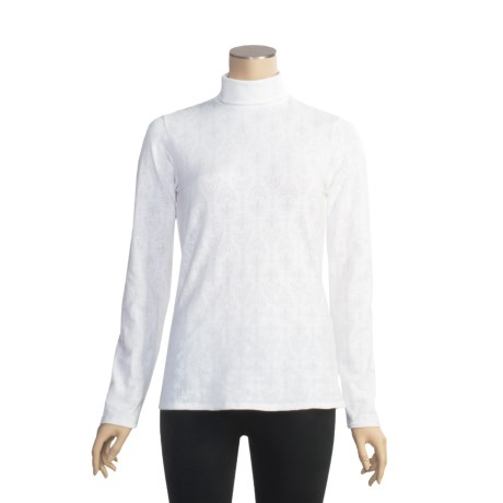 Snow Angel Veluxe Damask Base Layer Turtleneck - Long Sleeve (For Women)