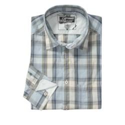 Canterbury Plaid Shirt - Contrasting Cuffs, Long Sleeve (For Men)