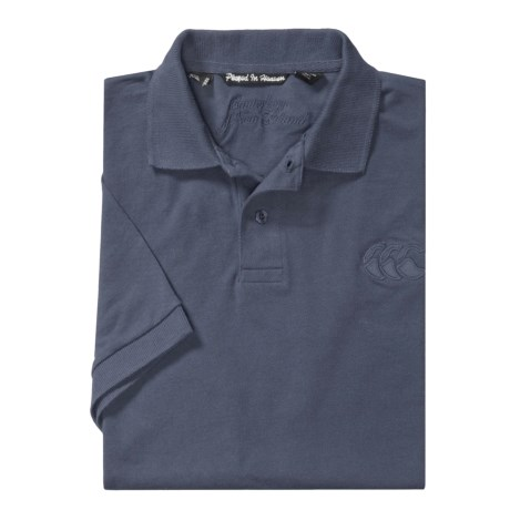 Canterbury of New Zealand Logo Polo Shirt - Twill Pique, Short Sleeve (For Men)