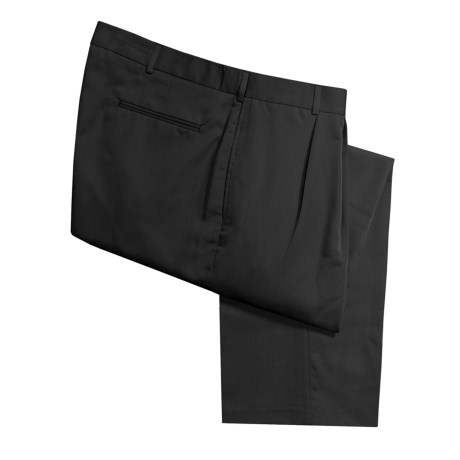 Polyester-Rayon Dress Pants - Reverse Pleats (For Men)